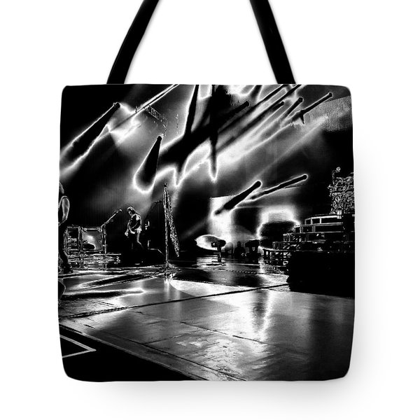 Def Leppard At Saratoga Springs 5 Tote Bag by David Patterson