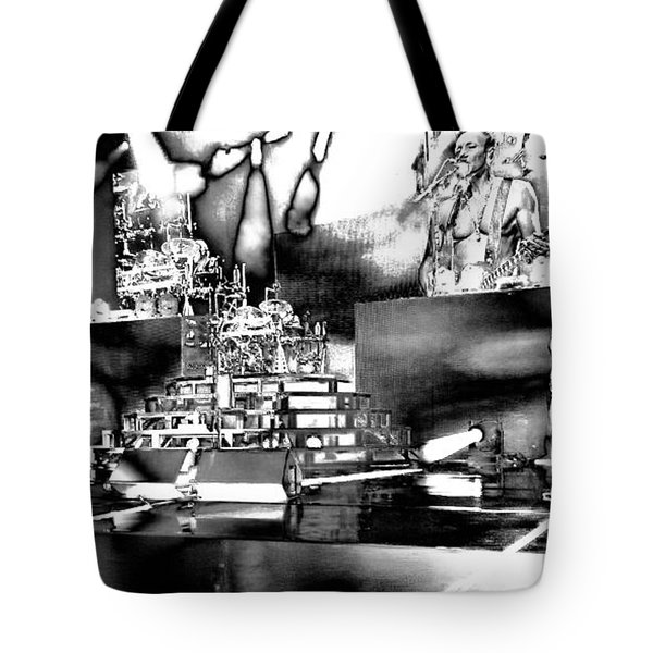 Def Leppard At Saratoga Springs 6 Tote Bag by David Patterson