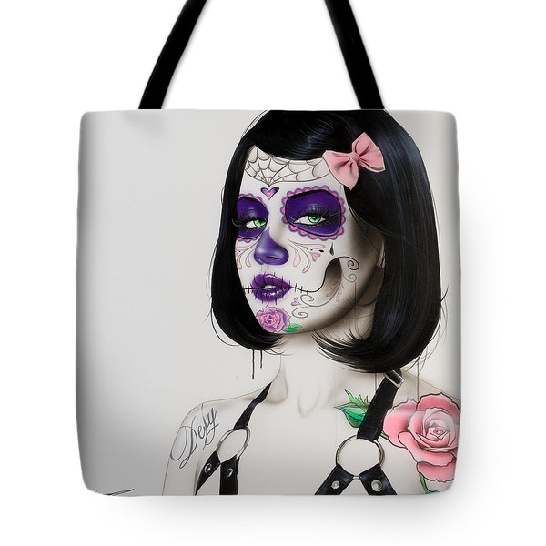 'defy' Tote Bag by Christian Chapman Art