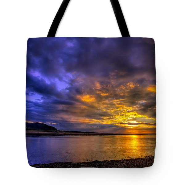 Deganwy Sunset Tote Bag by Adrian Evans