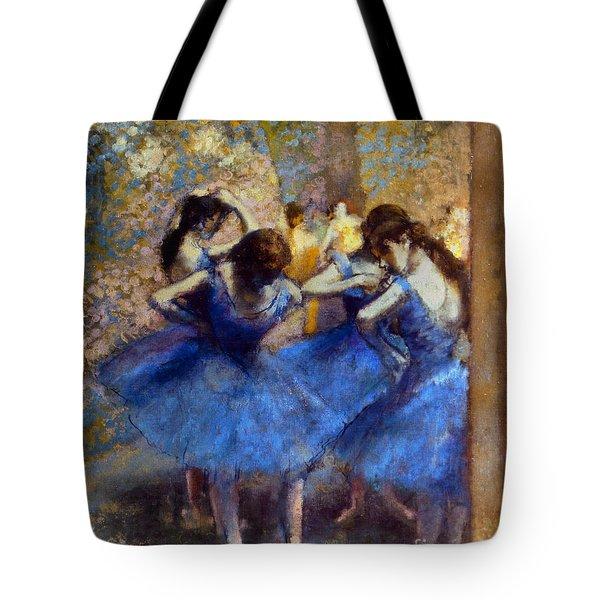 Degas: Blue Dancers, C1890 Tote Bag by Granger