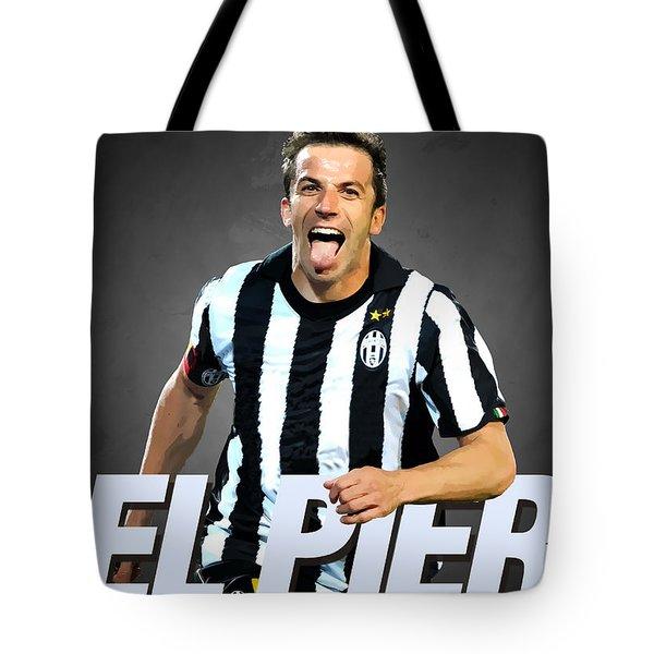 Del Piero Tote Bag by Semih Yurdabak