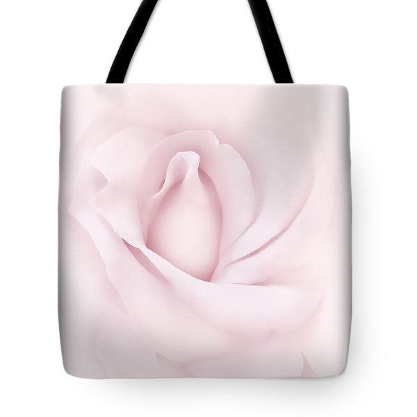 Delicate Pink Rose Flower Tote Bag by Jennie Marie Schell