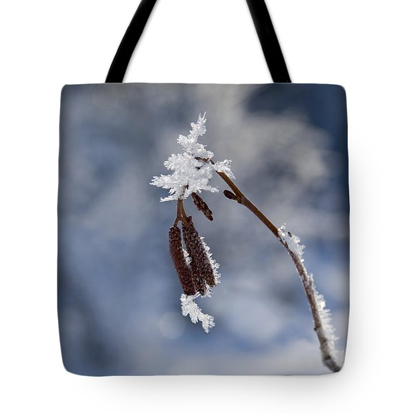 Delicate Winter Tote Bag by Mike  Dawson