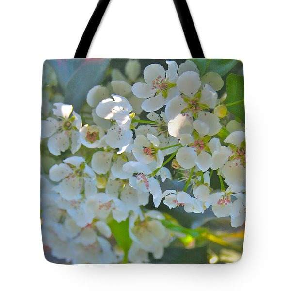 Delightfully White Tote Bag by Gwyn Newcombe