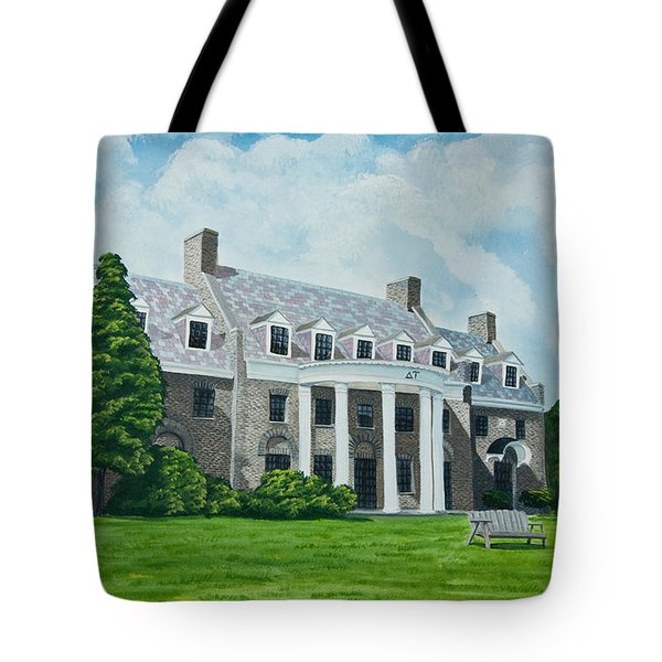 Delta Upsilon Tote Bag by Charlotte Blanchard