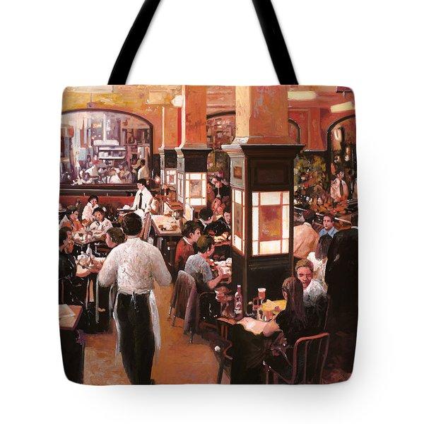 Dentro Il Caffe Tote Bag by Guido Borelli