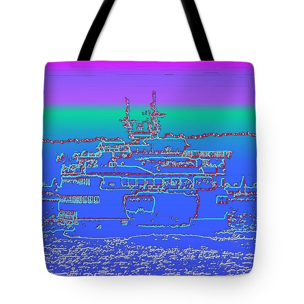Departing Ferry Tote Bag by Tim Allen