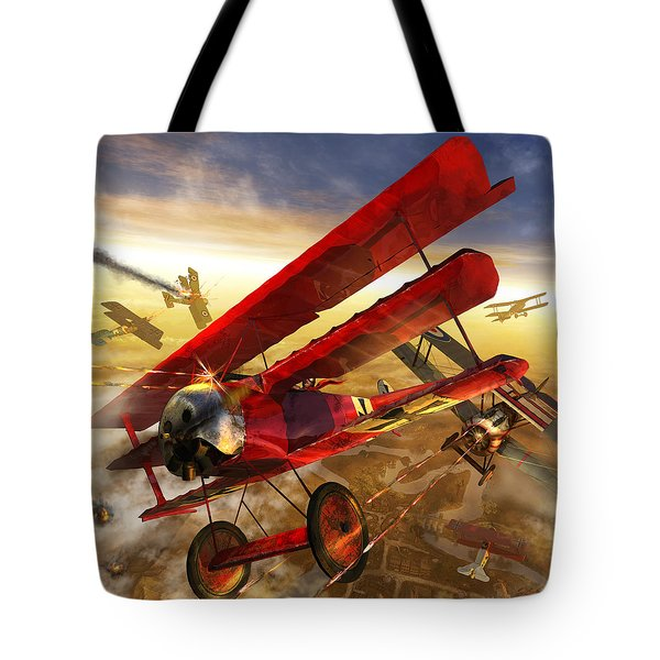 Der Rote Baron Tote Bag by Kurt Miller