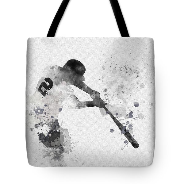 Derek Jeter Tote Bag by Rebecca Jenkins
