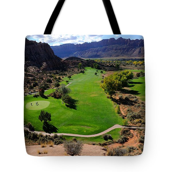 Desert Canyon Golf Course Tote Bag by Gary Whitton