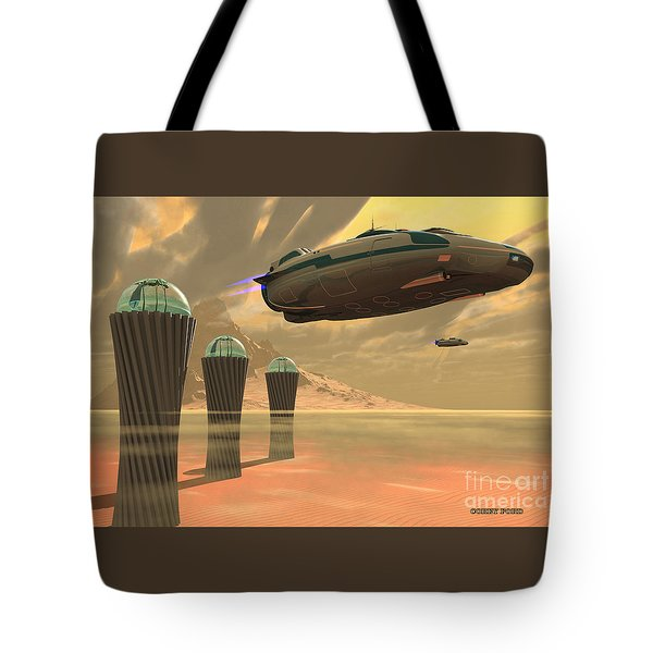 Desert Planet Tote Bag by Corey Ford