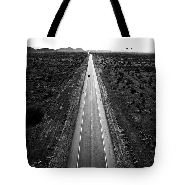 Desert Road Tote Bag by Scott Pellegrin