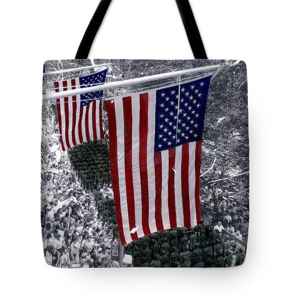 Desert Storm Parade  Nyc Tote Bag by Cindy Roesinger