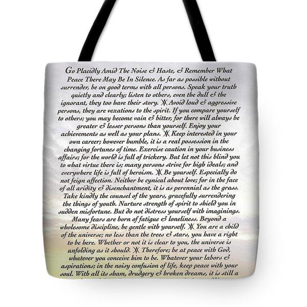 Desiderata 8 Tote Bag by Desiderata Gallery