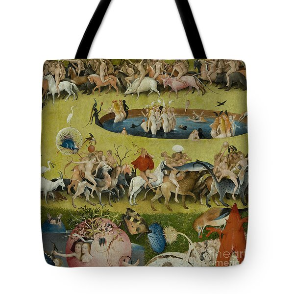 Detail From The Central Panel Of The Garden Of Earthly Delights Tote Bag by Hieronymus Bosch