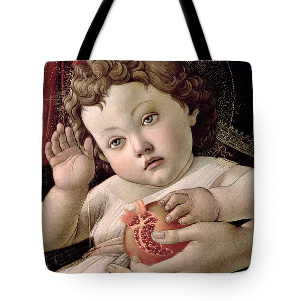 Detail Of The Christ Child From The Madonna Of The Pomegranate  Tote Bag by Sandro Botticelli