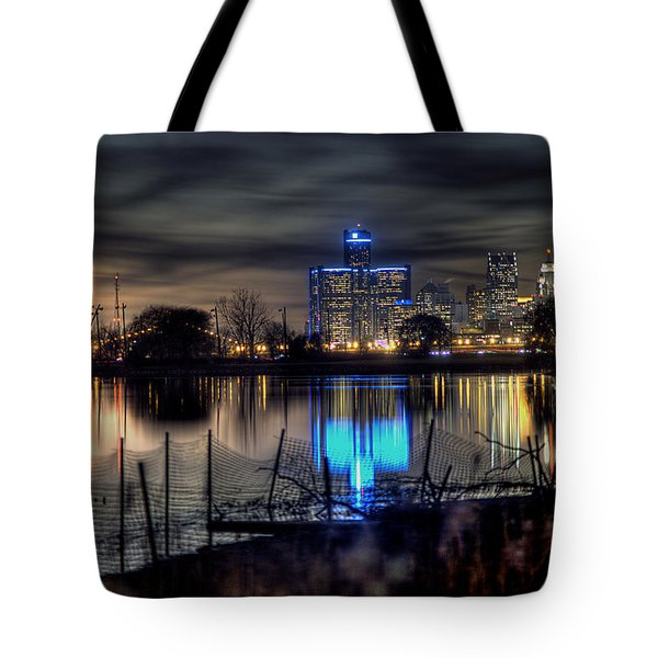 Detroit Reflections Tote Bag by Nicholas  Grunas