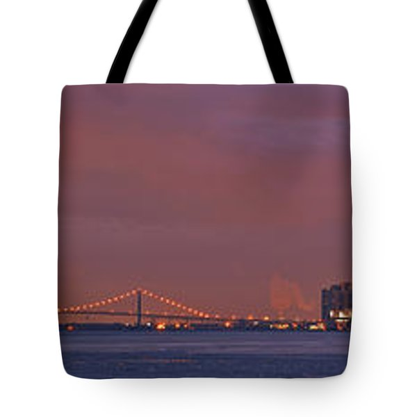 Detroit Skyline Tote Bag by Michael Peychich