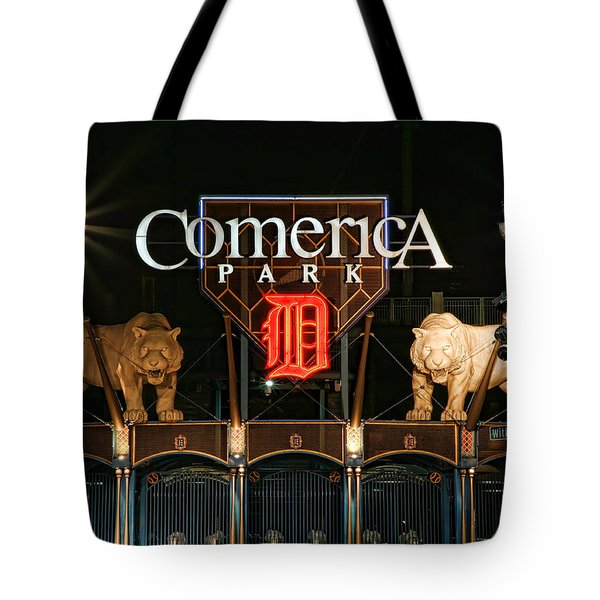 Detroit Tigers - Comerica Park Tote Bag by Gordon Dean II