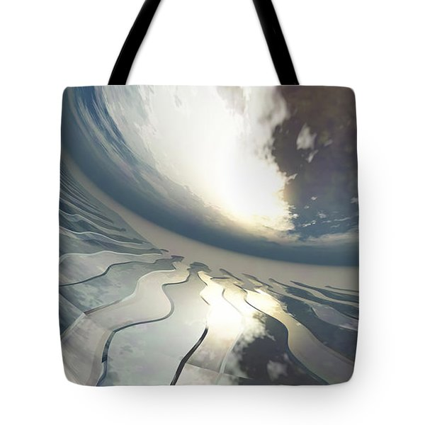 Deviating World Tote Bag by Richard Rizzo