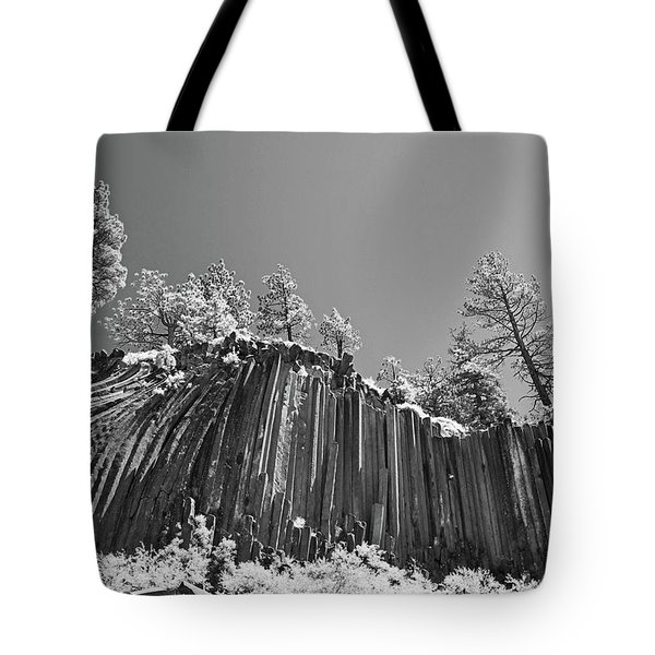 Devil's Postpile - Frozen columns of lava Tote Bag by Christine Till