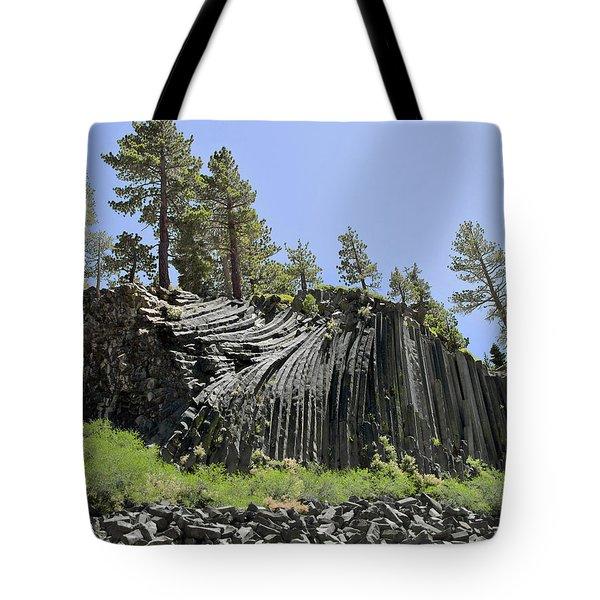 Devil's Postpile - Talk About Natural Wonders Tote Bag by Christine Till