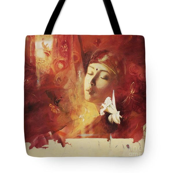 Devoted Tote Bag by Lin Petershagen