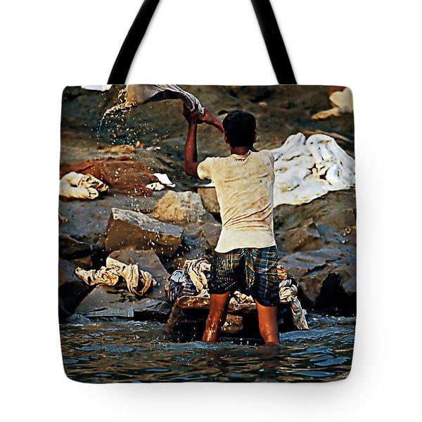 Dhobi Wallah Tote Bag by Steve Harrington