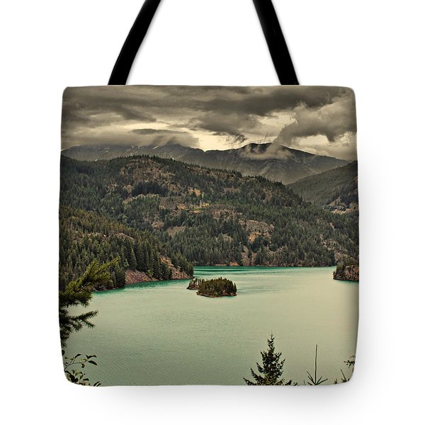 Diablo Lake - Le grand seigneur of North Cascades National Park WA USA Tote Bag by Christine Till