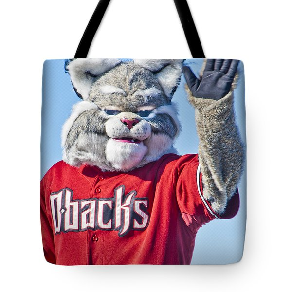 Diamondbacks Mascot Baxter Tote Bag by Jon Berghoff