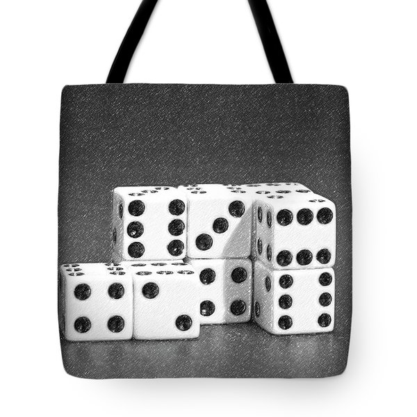 Dice Cubes II Tote Bag by Tom Mc Nemar
