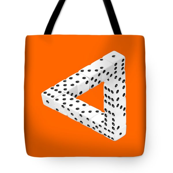 Dice Illusion Tote Bag by Shane Bechler