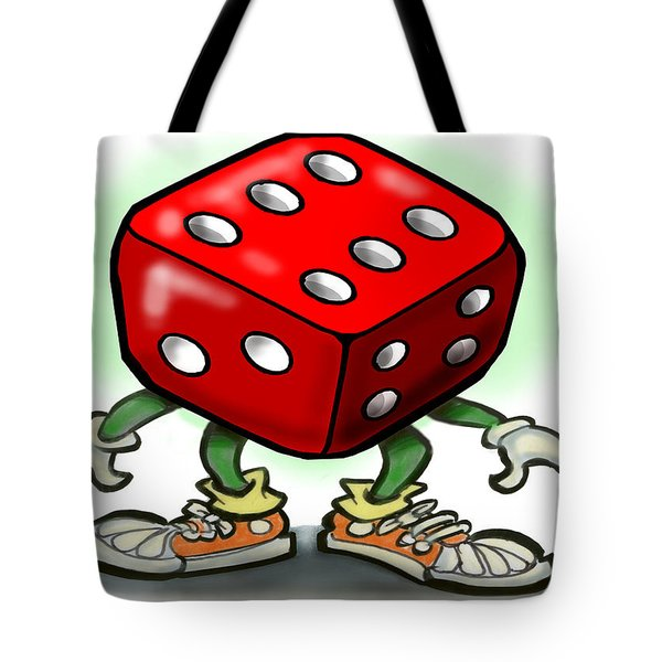 Dice Tote Bag by Kevin Middleton