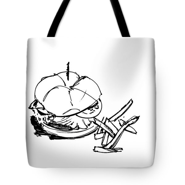 Diner Drawing Charbroiled Chicken 1 Tote Bag by Chad Glass