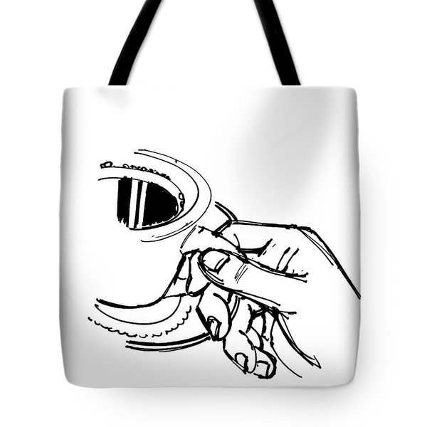 Diner Drawing Coffee In Hand Tote Bag by Chad Glass