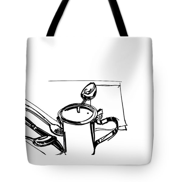 Diner Drawing Creamer 2 Tote Bag by Chad Glass