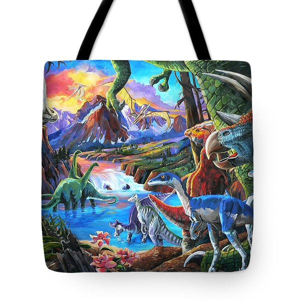 Dinosaur Tote Bag by Nadi Spencer