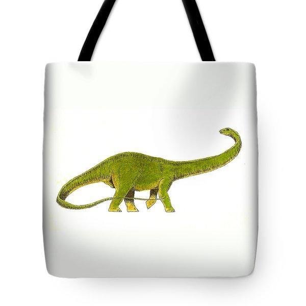 Diplodocus Tote Bag by Michael Vigliotti