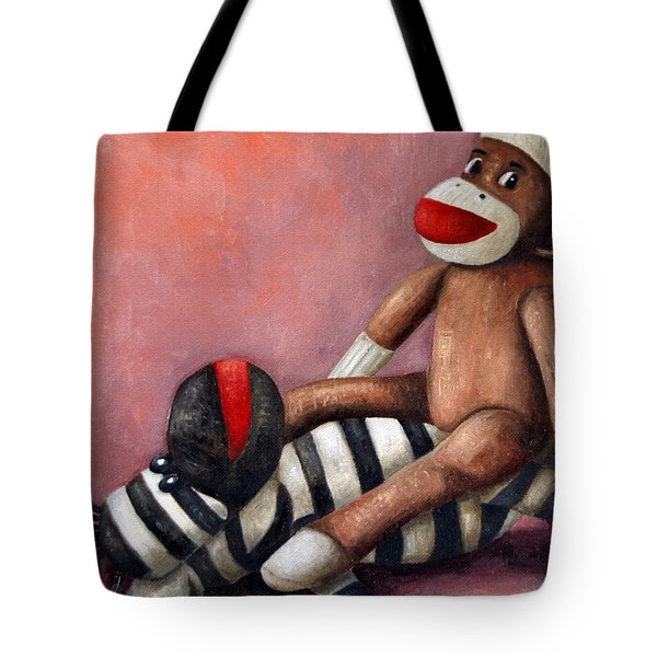 Dirty Socks 3 Playing Dirty Tote Bag by Leah Saulnier The Painting Maniac