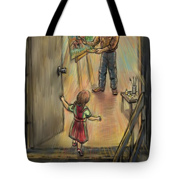 Discovering Daddy's World Tote Bag by Dawn Senior-Trask
