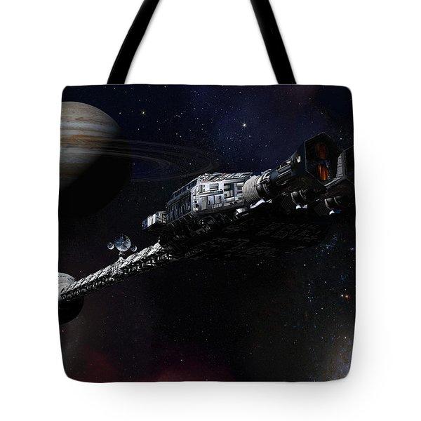 Discovery Near Jupiter Tote Bag by Joseph Soiza