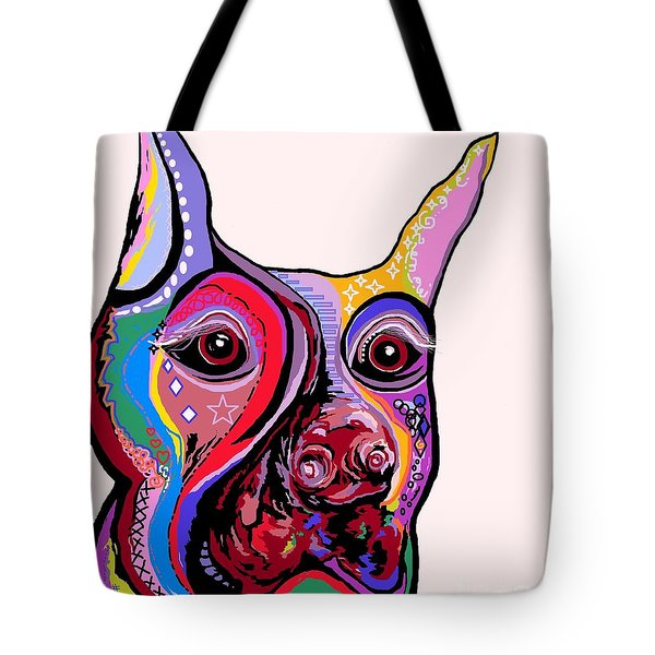 Doberman Tote Bag by Eloise Schneider