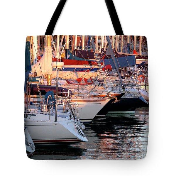 Docked Yatchs Tote Bag by Carlos Caetano