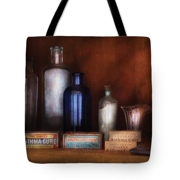 Doctor - Asthma Cures Tote Bag by Mike Savad
