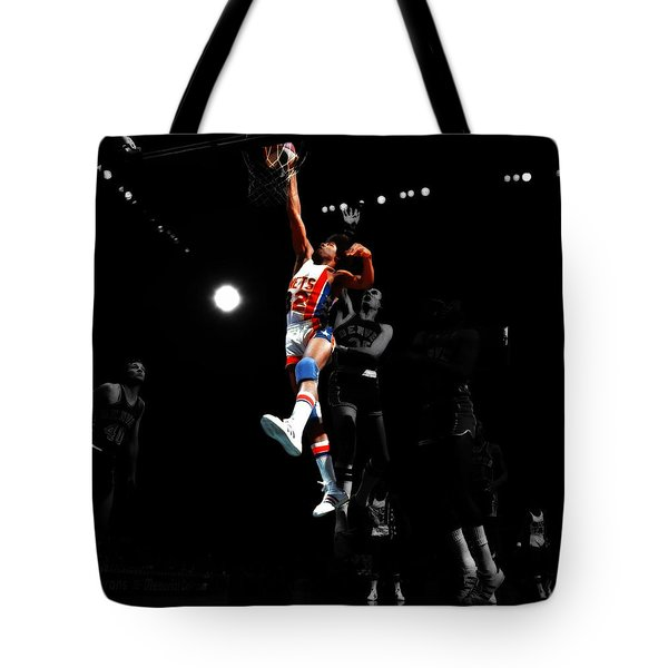 Doctor J Over The Top Tote Bag by Brian Reaves
