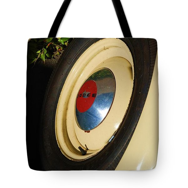 Dodge Tire Tote Bag by Rob Hans