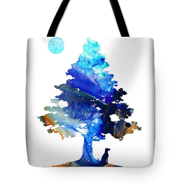 Dog Art - Contemplation - By Sharon Cummings Tote Bag by Sharon Cummings