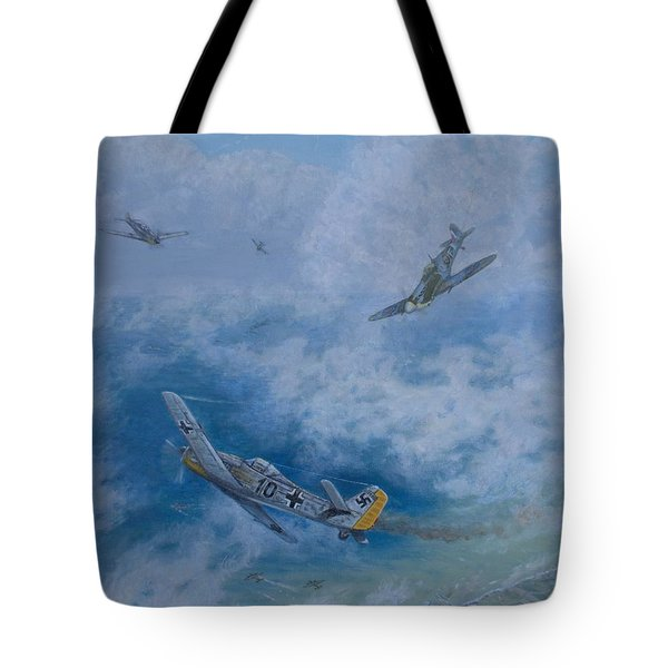 Dogfight Over Dieppe 19 August 1942 Tote Bag by Elaine Jones