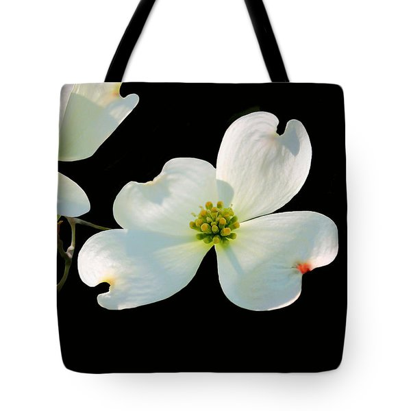 Dogwood Blossoms Tote Bag by Kristin Elmquist